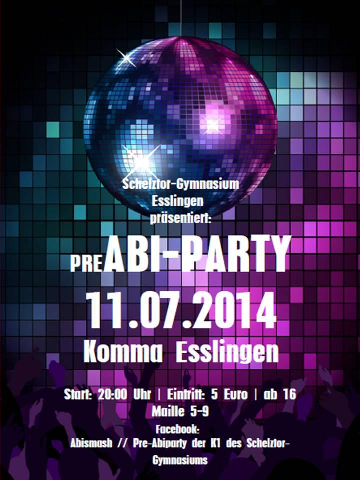 Pre-Abi-Party Plakat