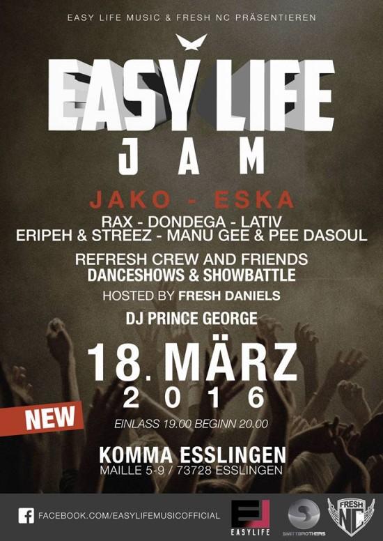 easy life jam flyer